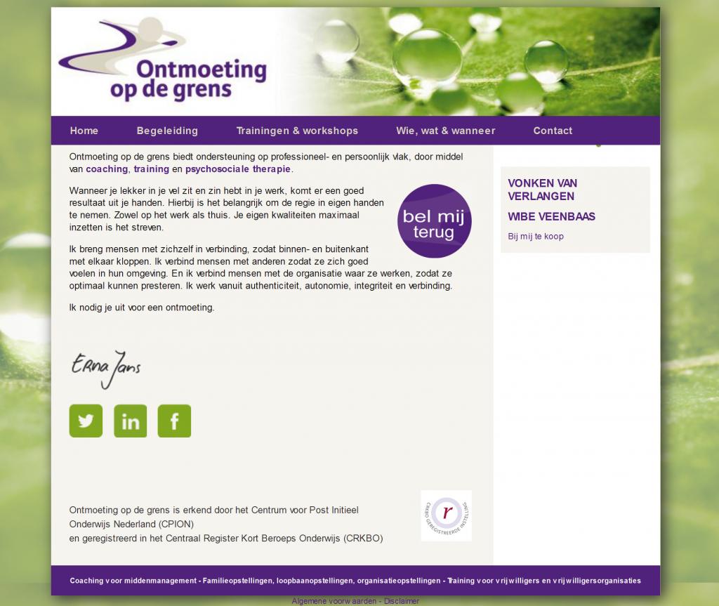 Redesign website Ontmoeting op de grens Enschede