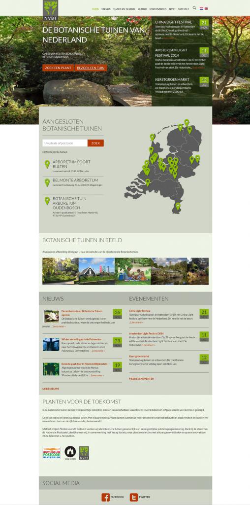 website botanische tuinen Nederland