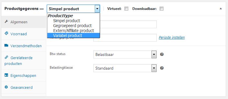 Een product met variaties plaatsen in je webshop (Woocommerce)